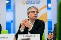 MEP Sven Giegold speaking during the Constitutive meeting of the Social Economy Intergroup