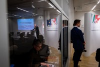Andreas Pinkwart giving a speech during the EU-China Connectivity event in Brussels