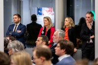 Attendees listening carefully the speeches during the EU-China Connectivity event in Brussels