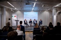 The discussion panel during the EU-China Connectivity event in Brussels