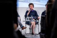 Maja Bakran Marcich, DG MOVE, at a discussion panel during the EU-China Connectivity event in Brussels