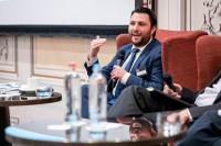 David Dumont, Hunton Andrews Kurth, moderating a discussion panel during the GC Summit Belgium 2020
