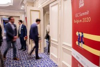 Attendee entering the conference room during the GC Summit Belgium 2020