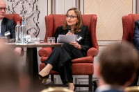 Fatma Keskin, Zetes Industries, speaking at the discussion panel during the GC Summit Belgium 2020