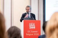 Grégoire Jakhian, Loyens & Loeff, speaking at the podium during the GC Summit Belgium 2020