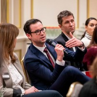 Maarten Cleppe asking a question during Q&A at the GC Summit Belgium 2020