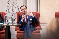 Maarten Cleppe, AXA, talking during the discussion panel at the GC Summit Belgium 2020