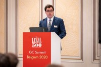 Peter Tweedley, The Legal 500, giving the opening speech during the GC Summit Belgium 2020