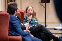 Teresa Basile, The Estée Lauder Companies, intervenes at the discussion panel during the GC Summit Belgium 2020