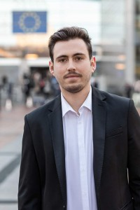 Portrait of Daniel Martín Montero for Social Economy Europe at the EU Parliament in Brussels