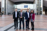 The Social Economy Europe team at the EU Parliament in Brussels