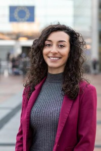 Portrait of Jessica Fiorelli for Social Economy Europe at the EU Parliament in Brussels