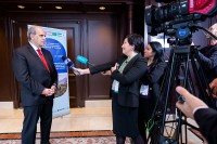 Peter Burian during an interview during the 9th meeting of the WGECC in Brussels